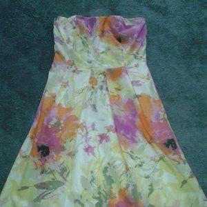 J.Crew Strapless Summer Dress, Size 0